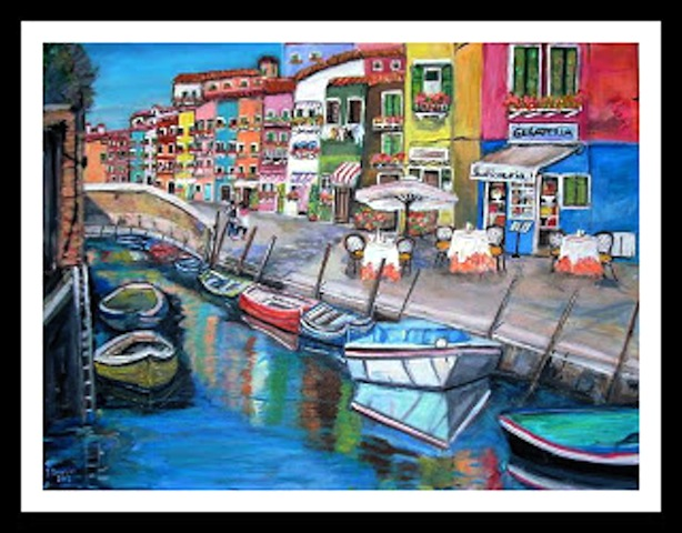 Burano, Venice with borders